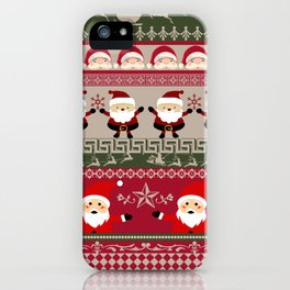Santa Claus Ugly Sweater iPhone Case