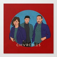 chvrches Canvas Prints featuring CHVRCHES by Sharin Yofitasari
