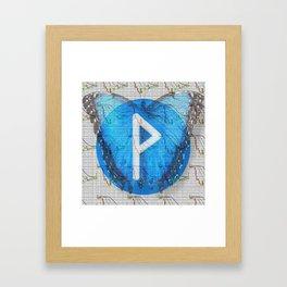 Rune Wunjo for trader Framed Art Print