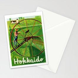 Vintage Hokkaido Japan Travel Poster Stationery Cards