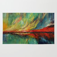 aurora Area & Throw Rugs featuring Aurora by Michael Creese