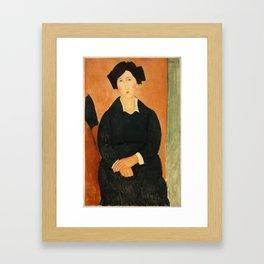 "Amedeo Modigliani ""The Italian Woman"" Framed Art Print"