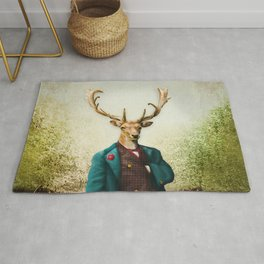Lord Staghorne in the wood Rug