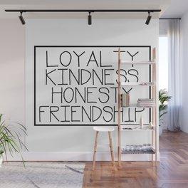 Hufflepuff Loyalty Kindness Honesty Friendship Wall Mural