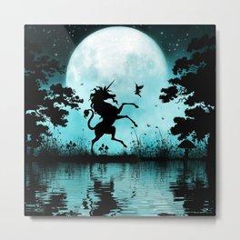 unicorn and little fairy Metal Print