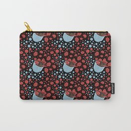 Lovely Succulent Pot Pattern Carry-All Pouch