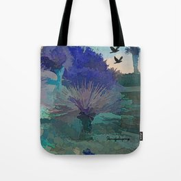 TheDesert blue -By Sherri Of Palm Springs Tote Bag