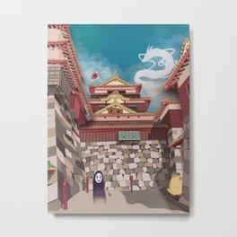 Bathhouse Visitors Metal Print
