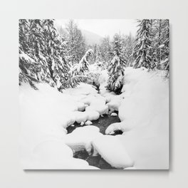 Marshamellow Snow Snoqualmie, WA Metal Print