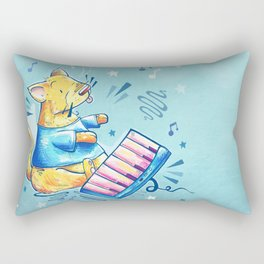 Keyboard Cat Says Thank You Rectangular Pillow