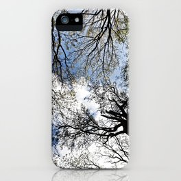 Vertical Trees iPhone Case