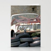 bmw Stationery Cards featuring Old BMW Wreck by Premium
