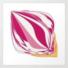 Strawberry Icecream Art Print