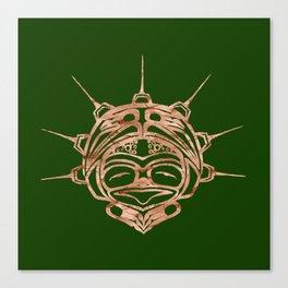 Copper Frog Grass Canvas Print