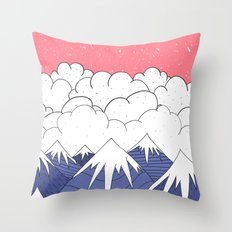 The mountains and the clouds Throw Pillow
