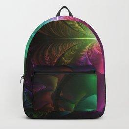 Anodized Rainbow Eyes and Metallic Fractal Flares Backpack