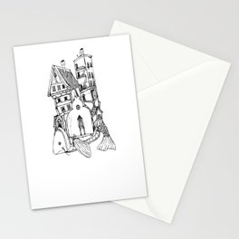 Home On A Fish Stationery Cards