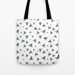 Fly Dotwork Tote Bag
