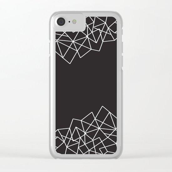 Geometric Pattern VII Clear iPhone Case