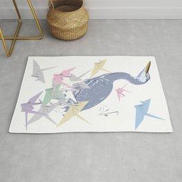 Crane wit paper origami cranes Rug