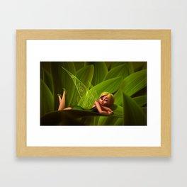 Leaves Fairy Framed Art Print
