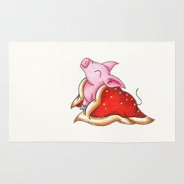 Impatient Piggy Rug