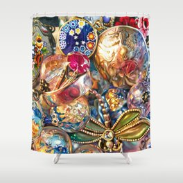 Ruby Liberty Dragonfly Shower Curtain
