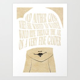 Old Mother Goose - Lessons From Mother Goose Series Art Print