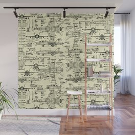 F-18 Blueprints // Parchment Wall Mural