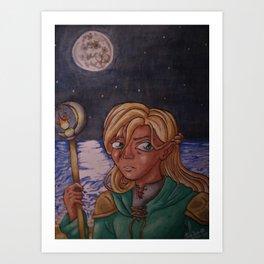 Moon Mage Art Print