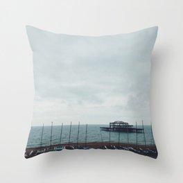 Brighton Old Pier Throw Pillow