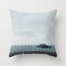 Brighton Old Pier Throw Pillow