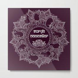 Surya namaskar Metal Print