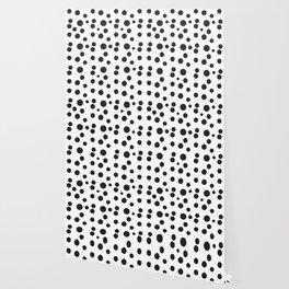 Black & white polka dot pattern Wallpaper
