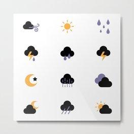 Magic Weather Forecast Metal Print