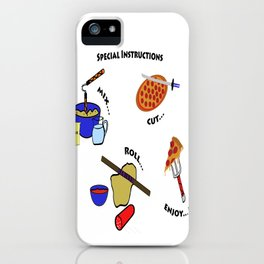 Pizza instructions!!! iPhone Case