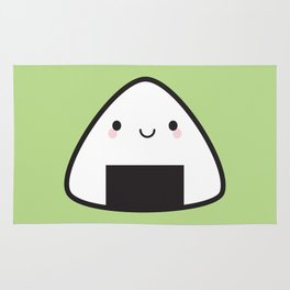 Kawaii Onigiri Rice Ball Rug