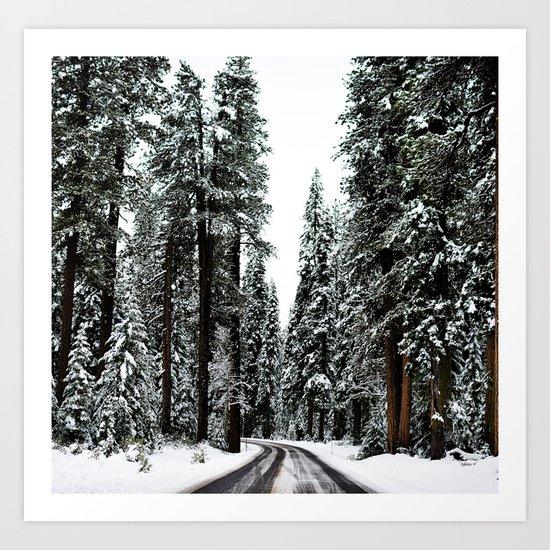 Winter Road #snow Art Print