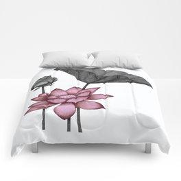 Lotus - red flower Comforters