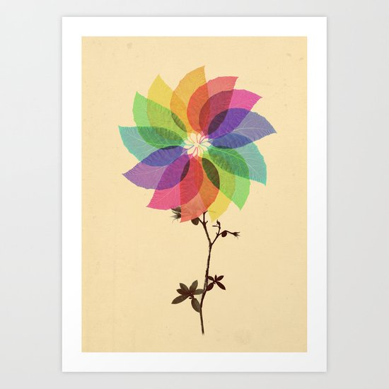 The windmill in my mind Art Print