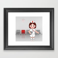 Jobs serie: the nurse Framed Art Print