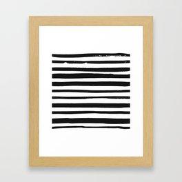 STRIPE BW Framed Art Print