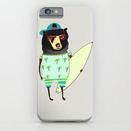 Surfer Bear. surfing art, surf decor, cool, iPhone Case