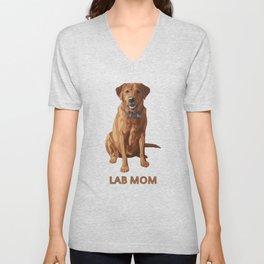 Lab Mom Fox Red Yellow Labrador Retriever Dog Unisex V-Neck