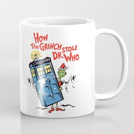 How the Grinch Stole Dr Who (on Light) Coffee Mug