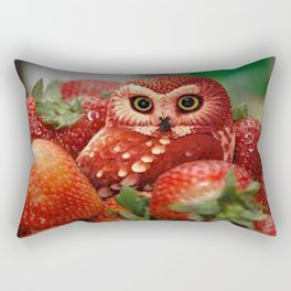 Owl_Strawberry Rectangular Pillow