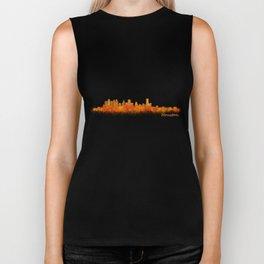 Houston City Skyline Hq v2 Biker Tank