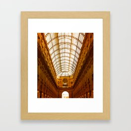 Galleria Vittorio Emanuele II in Milan Framed Art Print