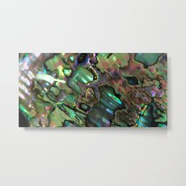 Oil Slick Abalone Mother Of Pearl Metal Print