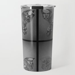 Faces Butterfly Travel Mug